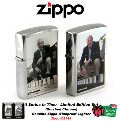 Zippo A Series in Time, Limited Edition Set, Genuine Windproof Lighters #28546