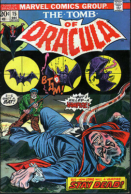 Marvel The Tomb of Dracula #15 (1973) - No stock images