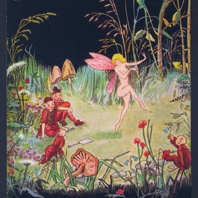 "Fairy Gaily Dancing,""fairyland Fancies"" Elves,alice Marshall,tuck Old Postcard"