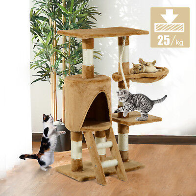 PawHut Cat Tree Condo Furniture Scratching Post Climbing Tower Scratch Activity