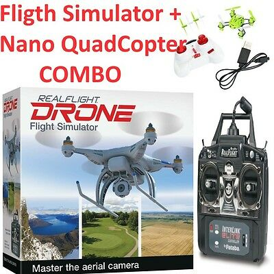 Great Planes RealFlight RC QuadCopter Flight Simulator / Sim + EZ FLY Nano Quad