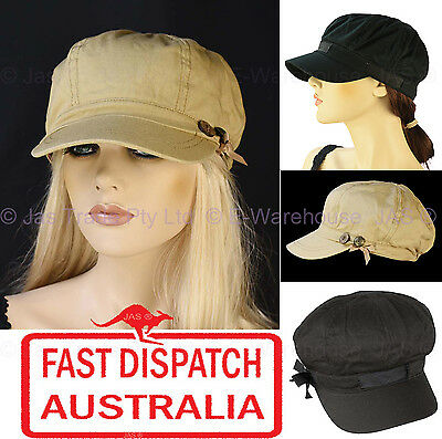 Girls Ladies Woman Newsboy Bakerboy Baseball Head Cover Sun Visor Hat Cap Cotton