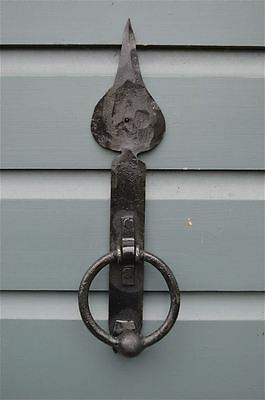 Hand Forged Wrought Iron English Spearhead Door Knocker Blacksmith Made Shk1