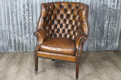 Antique George Iii Style Leather Armchair The Goring