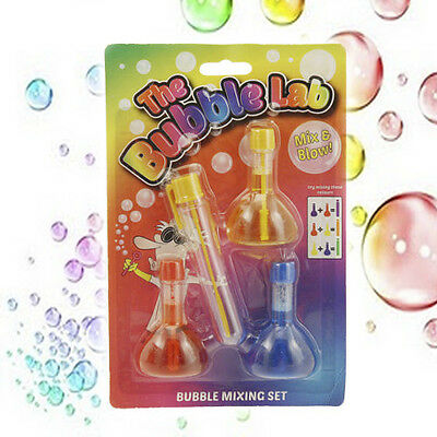 BUBBLE SCIENCE LAB CHILDRENS KIDS AWESOME colours mix SCIENCE LAB KIT TOY