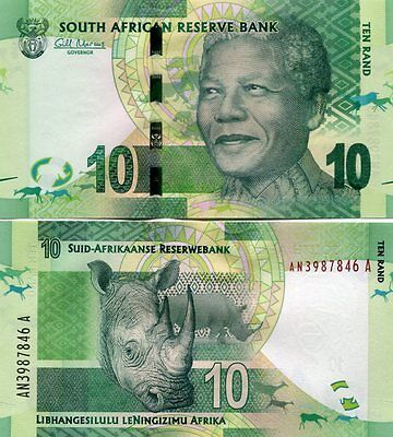 South Africa 10 Rands 2012 P-133 Unc