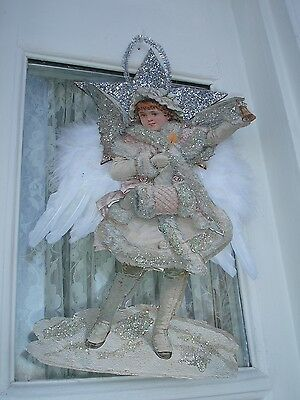Victorian Angel Of Christmas Cheer Isabella Large Dazzling Ornament *sale