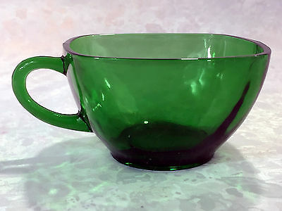 Anchor Hocking Charm Forest Green Cup Only