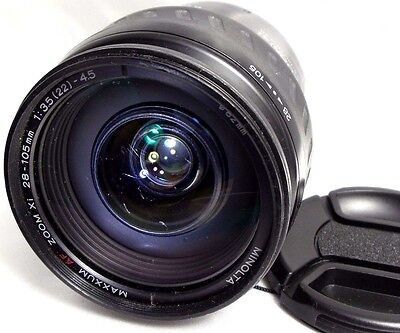 Minolta Maxxum AF 28-105mm f3.5-4.5 lens -scratched front glass for Sony A mount