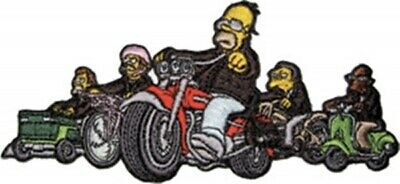 The Simpsons Springfield Choppers Riding Their Hogs Embroidered Patch NEW UNUSED
