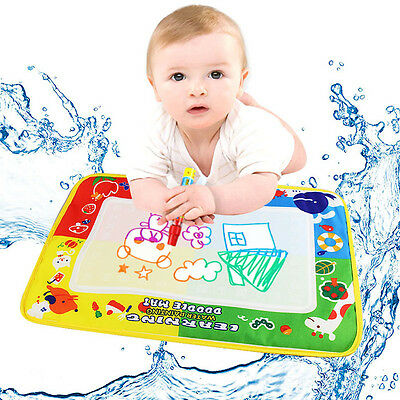 Unisex Kids Water Drawing Painting Writing Mat Board Magic Pen Doodle Toy Gift