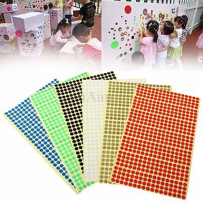 6mm Round Colour Code Dot Stickers Circles Sticky Adhesive Spot Labels Mark Tag