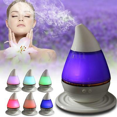 250ml LED Aroma Essential Diffuser Purifier Ultrasonic Humidifier Air Mist