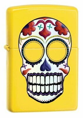 Zippo Day of the Dead, Lemon Matte Yellow, Skull, Windproof Lighter #24894