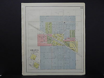 Wisconsin, Walworth County Plat Map, 1921, City of Sharon