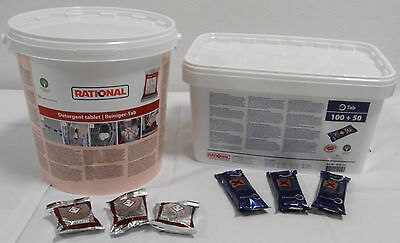 RATIONAL 100x REINIGER-TABS + 150x CARE-TABS für SelfCookingCenter SCC