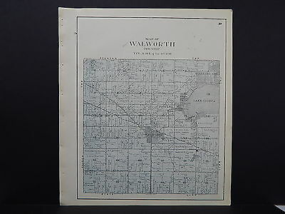Wisconsin Walworth County Plat Map Walworth Township 1921 #35