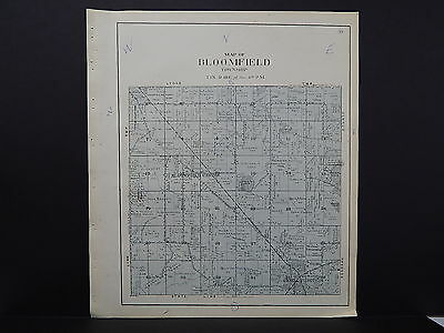 Wisconsin Walworth County Plat Map Bloomfield Township 1921 K19#49