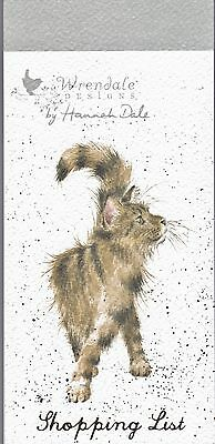 Wrendale  Country Set  Magnetic Shopping Pad Notebook List Pussy Cat