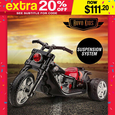 ROVO KIDS Electric Ride-On Motorbike Motorcycle Harley Style Toy Battery Chopper