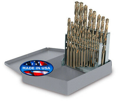 "Jobber Length Cobalt 21pc Drill Set 135° Point USA 1/16"" to 3/8"" RMT #95090872"
