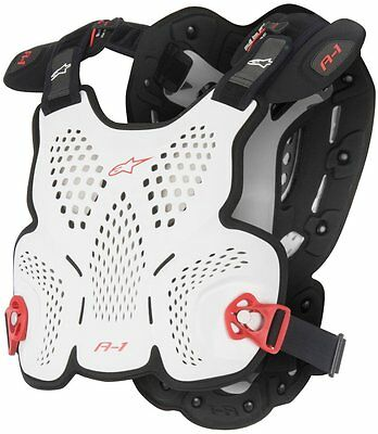 Alpinestars Mens A1 Roost Guard Chest Protector Medium/Large White Black Red