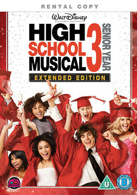 High School Musical 3 (Extended Edition) DVD (2009) Zac Efron, Ortega (DIR)