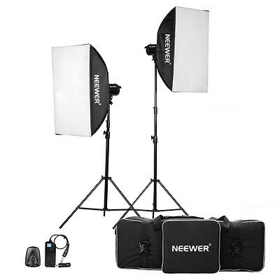 Neewer 800W(400W x 2)Photography Studio Flash Strobe Light Lighting Kit
