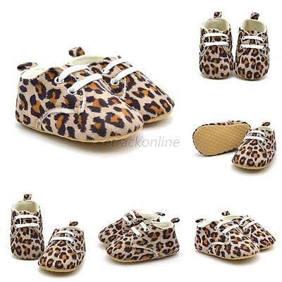0-18M Baby Infant Kids Girl Leopard Printed Soft Sole Crib Toddler Newborn Shoes