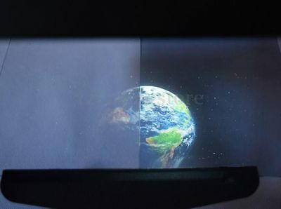 210mmx297mm SAMPLE A-4 size TRANSPARENT HOLOGRAPHIC REAR PROJECTION FILM HOT