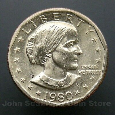 1980-S Susan B Anthony Dollar $1 Choice BU Mint US Coin
