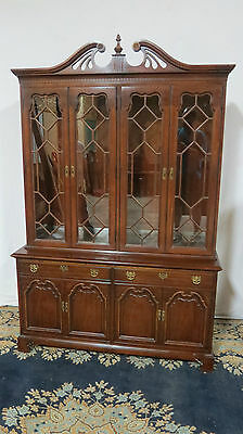 Thomasville China Cabinet Breakfront Mahogany Dining Room Set