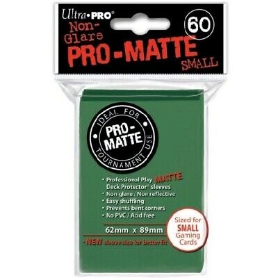 Ultra PRO 60 Pro Matte-Small Size Deck Protector Sleeves Green 84265 fit YuGiOh
