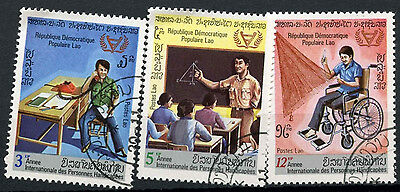 Laos 1981 SG#509-511 Year Of Disabled Persons Cto Used Set #D6356