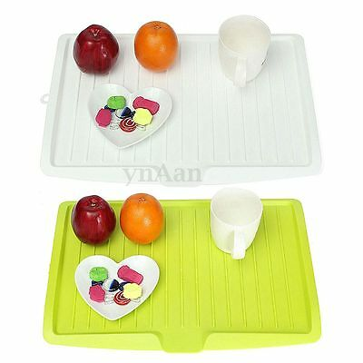 Large Plastic Sink Drainer Plate Tray Kitchen Worktop Drying Dish Rack Holder