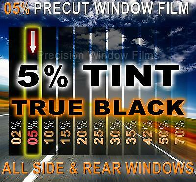 PreCut Window Film 5% VLT Limo Black Tint for Ford Escort 4dr Sedan 1997-2002