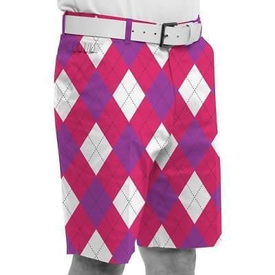 Royal and Awesome Novelty Golf Shorts (Back To The Fuchsia)