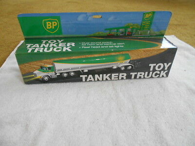 BP Gas Toy Tanker Truck w/ Dual Sounds Working Lights New