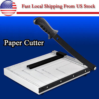 Professional Heavy Duty A4 Paper Guillotine Cutter Trimmer Machine Home Office