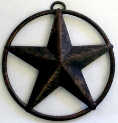 """Western Small Star Circle Christmas Ornament - Anti-copper -3""""  New"""