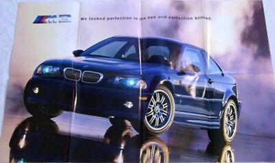 2001 01 BMW full line original sales Brochure M3 poster