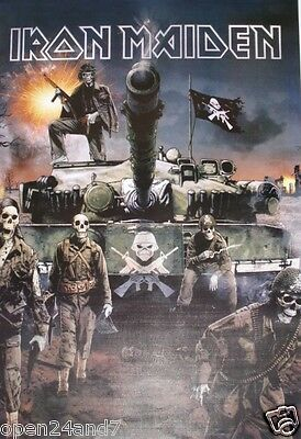 """IRON MAIDEN """"MATTER OF LIFE & DEATH"""" ASIAN POSTER - Skeleton Soldiers With Tank"""