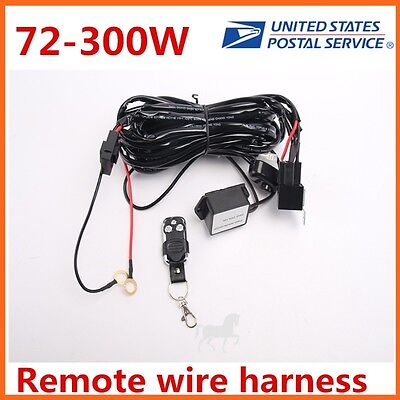 Wiring Harness Kit LED  Work Light Remote Control 40A 14V Switch Relay 72w~300w