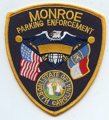 MONROE NORTH CAROLINA NC state flag PARKING ENFORCEMENT POLICE PATCH