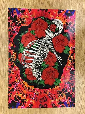 Dead & Company Broomfield Co 2015 Concert Poster Grateful Grealish Original