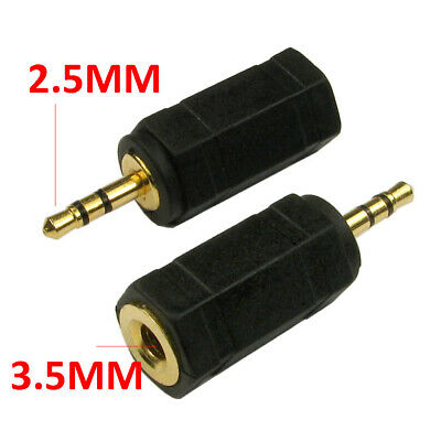 3.5mm Stereo Jack Socket to 2.5mm Stereo Jack Male Plug Adapter [007451]