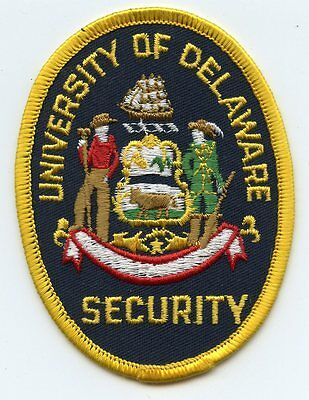 old vintage UNIVERSITY OF DELAWARE DE SECURITY POLICE PATCH