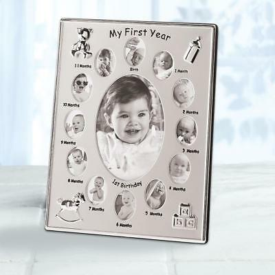 baby Boy Girl 12 month 1st Year infant growth chart photo Picture Frame gift