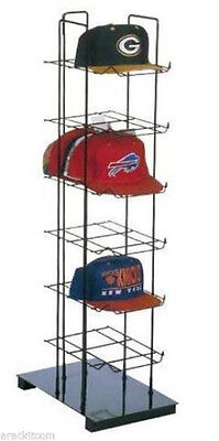 AYS Retail 6 Tier Sport Cap Product Tower Display Rack Hold Up To 36 Cap (Black)