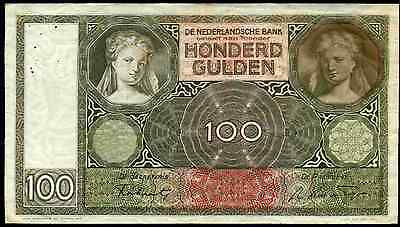 Netherlands. 100 Gulden, EC 021592, 13-5-1941. Good Fine.